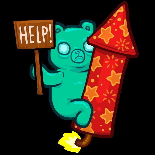 Burrito Bison: Launcha Libre messages sticker-1