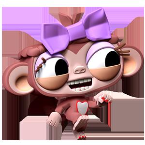 Dare the Monkey: Arcade Jump messages sticker-7