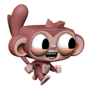 Dare the Monkey: Arcade Jump messages sticker-0