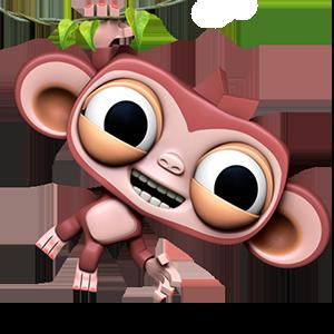 Dare the Monkey: Arcade Jump messages sticker-2