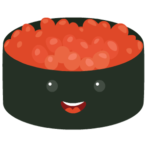 Kawaii Sushi messages sticker-2