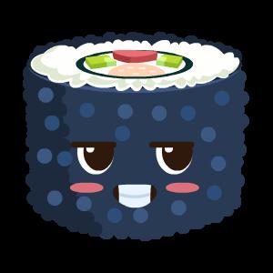 Kawaii Sushi messages sticker-1