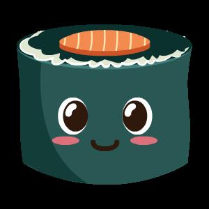 Kawaii Sushi messages sticker-9