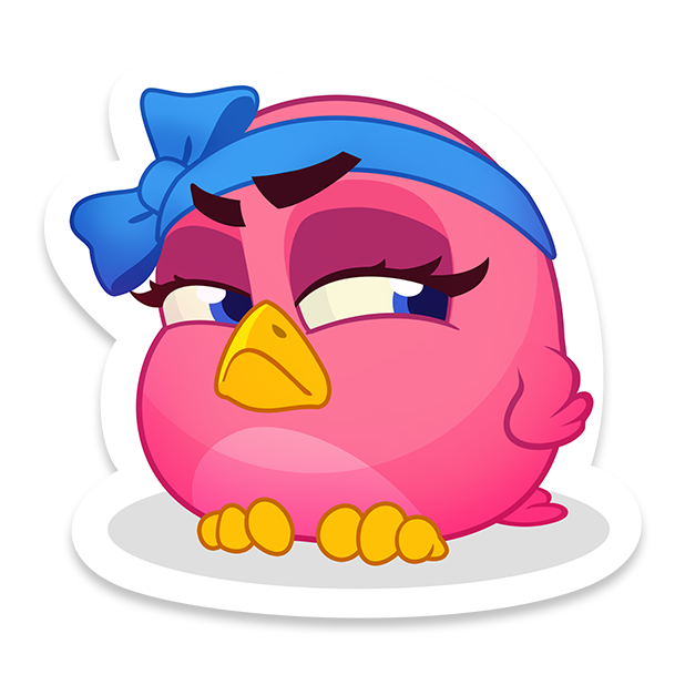 Bubble Birds V - Shooter messages sticker-3