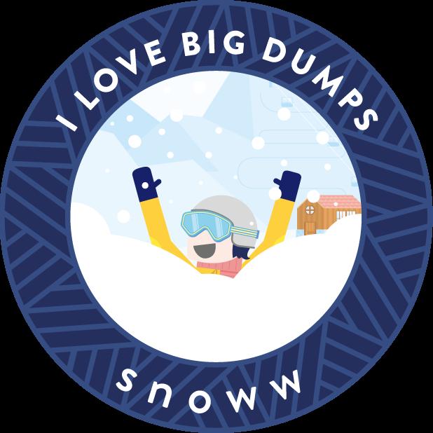 snoww: social ski & snowboard tracker messages sticker-2