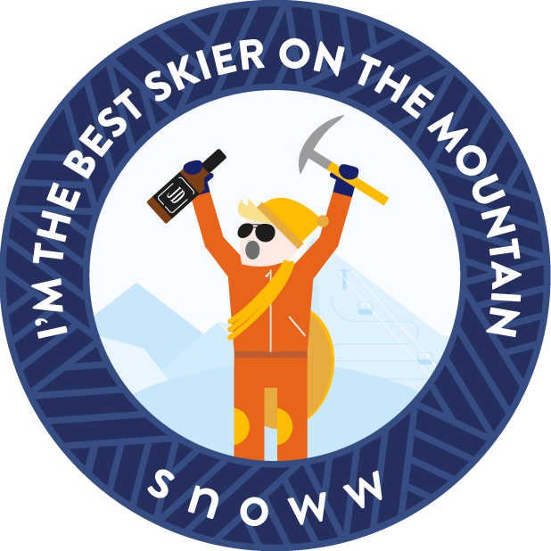 snoww: social ski & snowboard tracker messages sticker-1