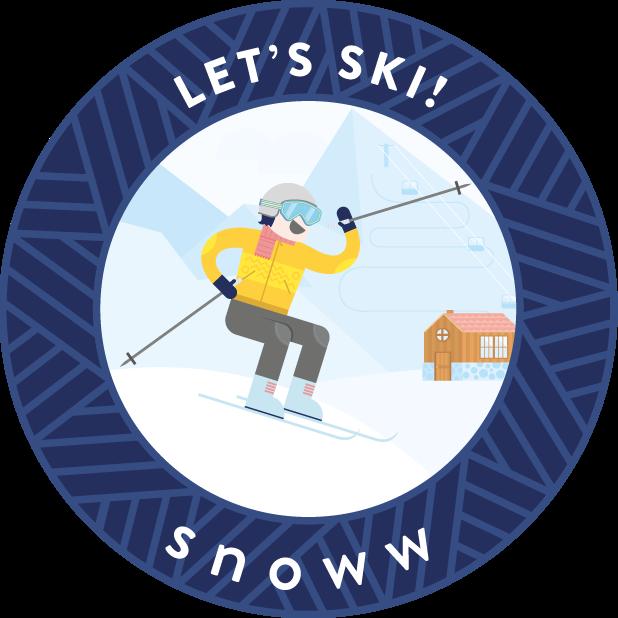 snoww: ski & snowboard tracker messages sticker-7