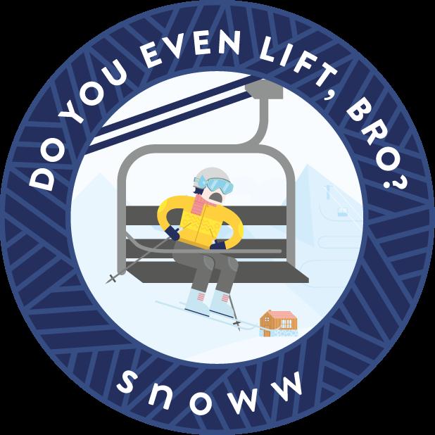 snoww: ski & snowboard tracker messages sticker-3