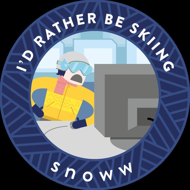snoww: ski & snowboard tracker messages sticker-9