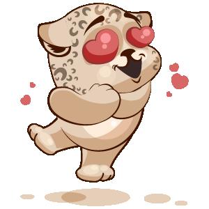 Leopard Stickers messages sticker-9