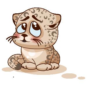 Leopard Stickers messages sticker-7