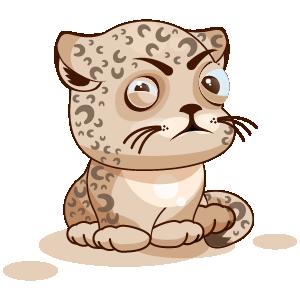 Leopard Stickers messages sticker-0