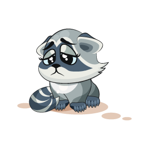 Raccoon Stickers messages sticker-3