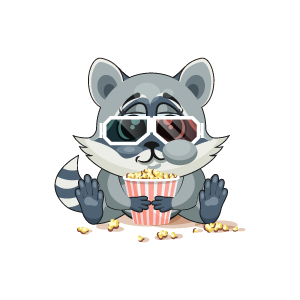 Raccoon Stickers messages sticker-1