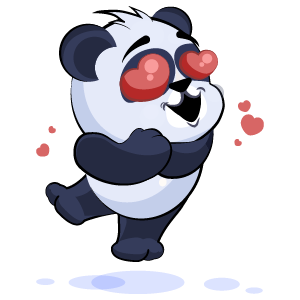 Panda Stickers Pack messages sticker-9