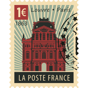 Stamps Paris Stickers messages sticker-8