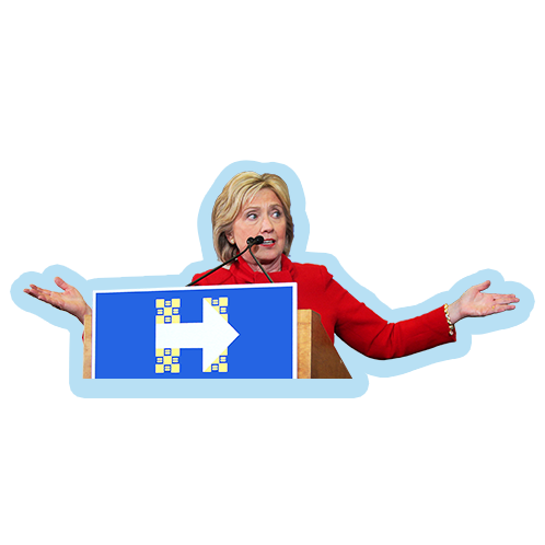 ElectionMoji - Hillary Clinton Emoji (HillaryMoji) messages sticker-7