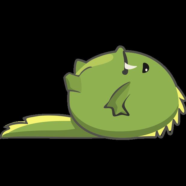 Frogasaurus Rex messages sticker-2