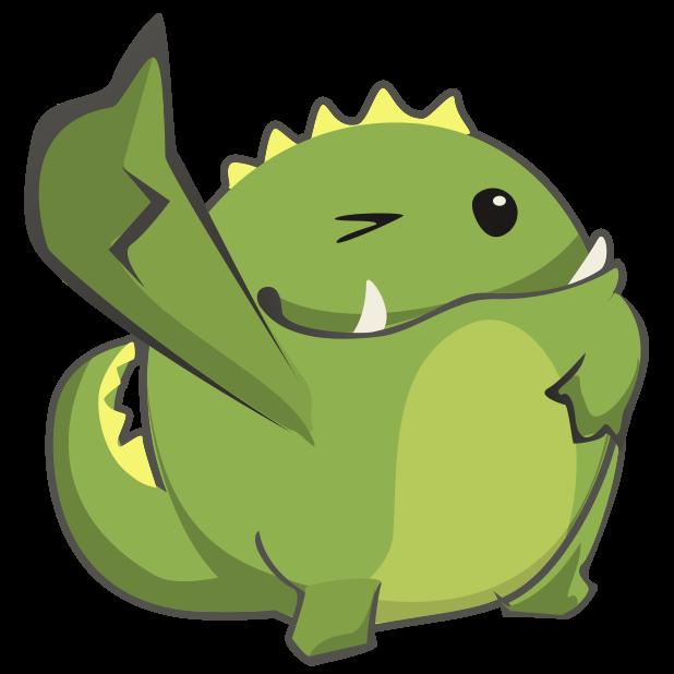 Frogasaurus Rex messages sticker-9