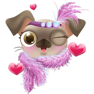Miss Hollywood: Pugs & Kisses messages sticker-11