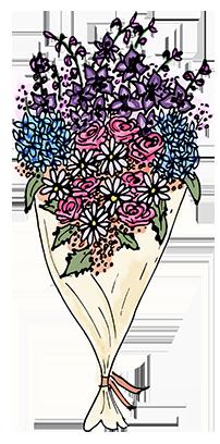 Flower Bouquet Stickers messages sticker-4