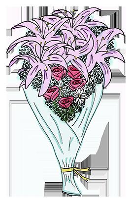 Flower Bouquet Stickers messages sticker-0
