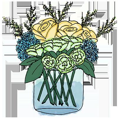 Flower Bouquet Stickers messages sticker-2