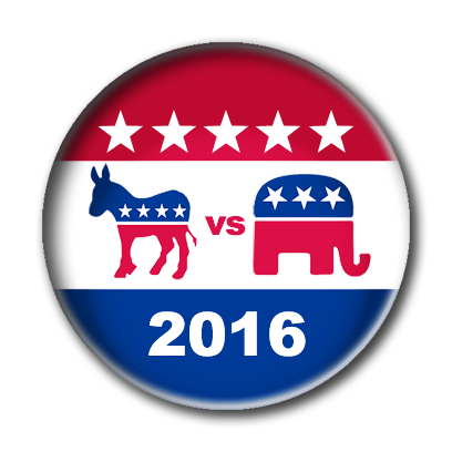 Campaign Election Buttons Vote 2016 messages sticker-0