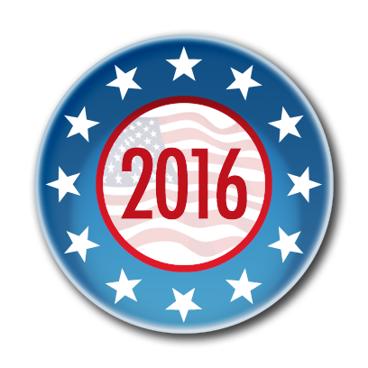 Campaign Election Buttons Vote 2016 messages sticker-4