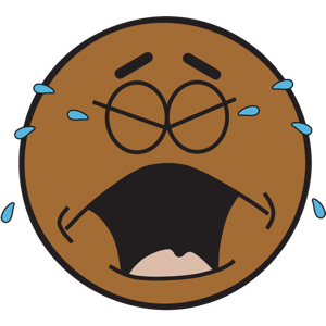 Ochat: Brown Smiley & Emoji Stickers for iMessage messages sticker-9