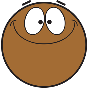 Ochat: Brown Smiley & Emoji Stickers for iMessage messages sticker-0