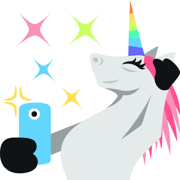 Unicorn Life: Emoji inspired stickers by EmojiOne™ messages sticker-6