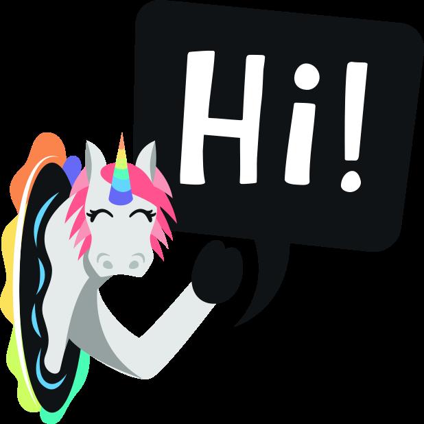 Unicorn Life: Emoji inspired stickers by EmojiOne™ messages sticker-9