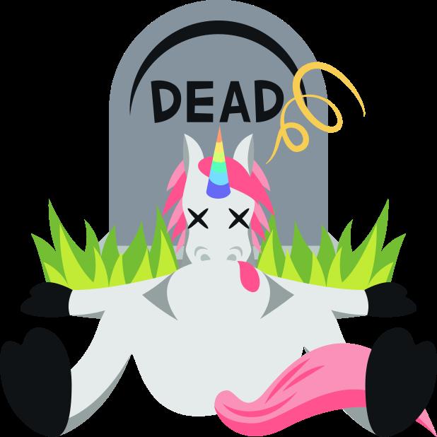 Unicorn Life: Emoji inspired stickers by EmojiOne™ messages sticker-2