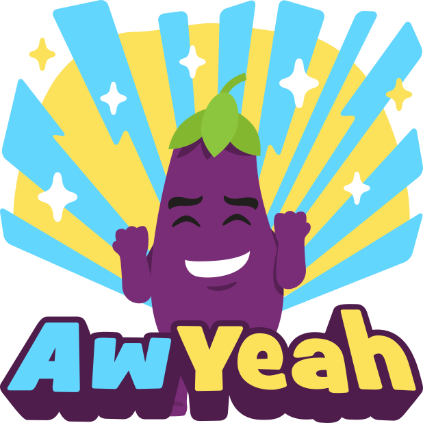 Eggplant Life: Emoji inspired stickers by EmojiOne messages sticker-10