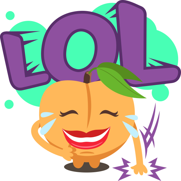 A Peach Life: Emoji inspired stickers by EmojiOne messages sticker-5