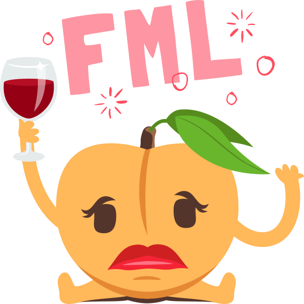 A Peach Life: Emoji inspired stickers by EmojiOne messages sticker-4