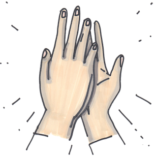 Hand Gestures - Beautifully drawn signs & signals messages sticker-11