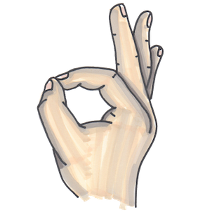 Hand Gestures - Beautifully drawn signs & signals messages sticker-5