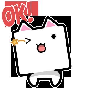 CubeCat Sticker Pack messages sticker-9
