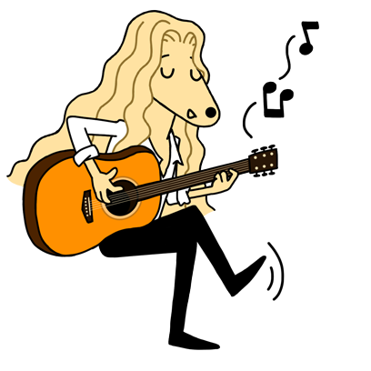 Singer-songwriter Andrea messages sticker-0