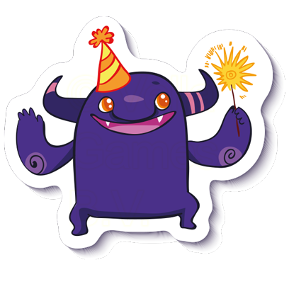 Crazy Purple Monster - Stickers for iMessage messages sticker-1
