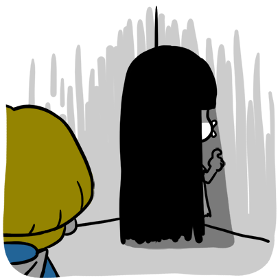 Bella, the adolescent ghost girl messages sticker-10