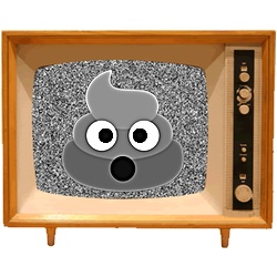 Black & White Emoji TV messages sticker-5