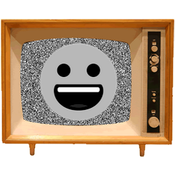 Black & White Emoji TV messages sticker-0