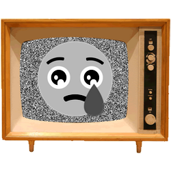 Black & White Emoji TV messages sticker-3