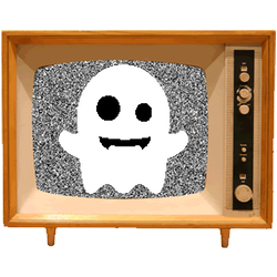 Black & White Emoji TV messages sticker-6