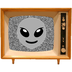 Black & White Emoji TV messages sticker-7