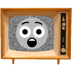 Black & White Emoji TV messages sticker-1