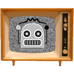 Black & White Emoji TV messages sticker-8